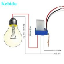 Kebidu Automatic Auto On Off 110V 220V DC AC 12V 50 60Hz 10A Sensor Switch Photocell Street Light Switch Control Photoswitch