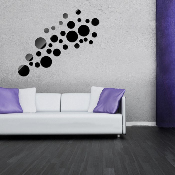 Art Design home decoration 3D mirror surface wall stickers DIY Modern decoration wall decals 30 round life sticker good gift-in Wall Stickers from Home ... & Art Design home decoration 3D mirror surface wall stickers DIY ...