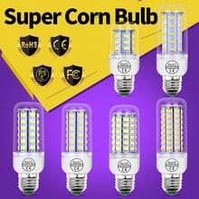 E27 Light Led Corn Bulb E14 Led Lamp Candle Light GU10 220V Bombillas 24 36 48 56 69 72led Chandelie Lighting For Home 5730SMD for konka led50r5500fx article lamp 35018050 35018051 lt37023402a 1piece 72led 622mm