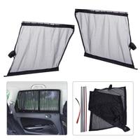 DWCX 2x Car Sun Shade UV Proof Side Window Mesh Fiber Curtain Visor Shield Protector Cover