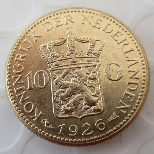 Heißer Verkauf Niederlande Wilhelmina Ich 10 Gulden 1926 Gold