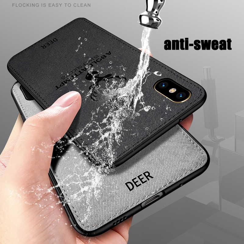 صدمات الهاتف حالات ل شياو mi mi ماكس 2 3 Max2 Max3 حالة 3D القماش الغزلان نمط جلدية جراب هاتف شاومي mi mi x 2s 2 3 كابا