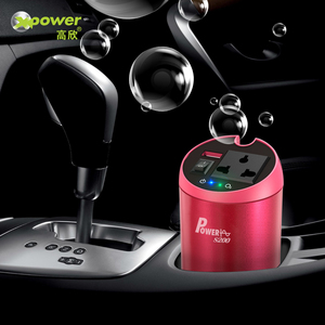 Image 2 - Inversor de potência do carro da onda senoidal pura de xp 12 v 220 v inversor 12 v 220 v dc para ac conversor de tensão do automóvel 230 volts carregador rápido qc 3.0