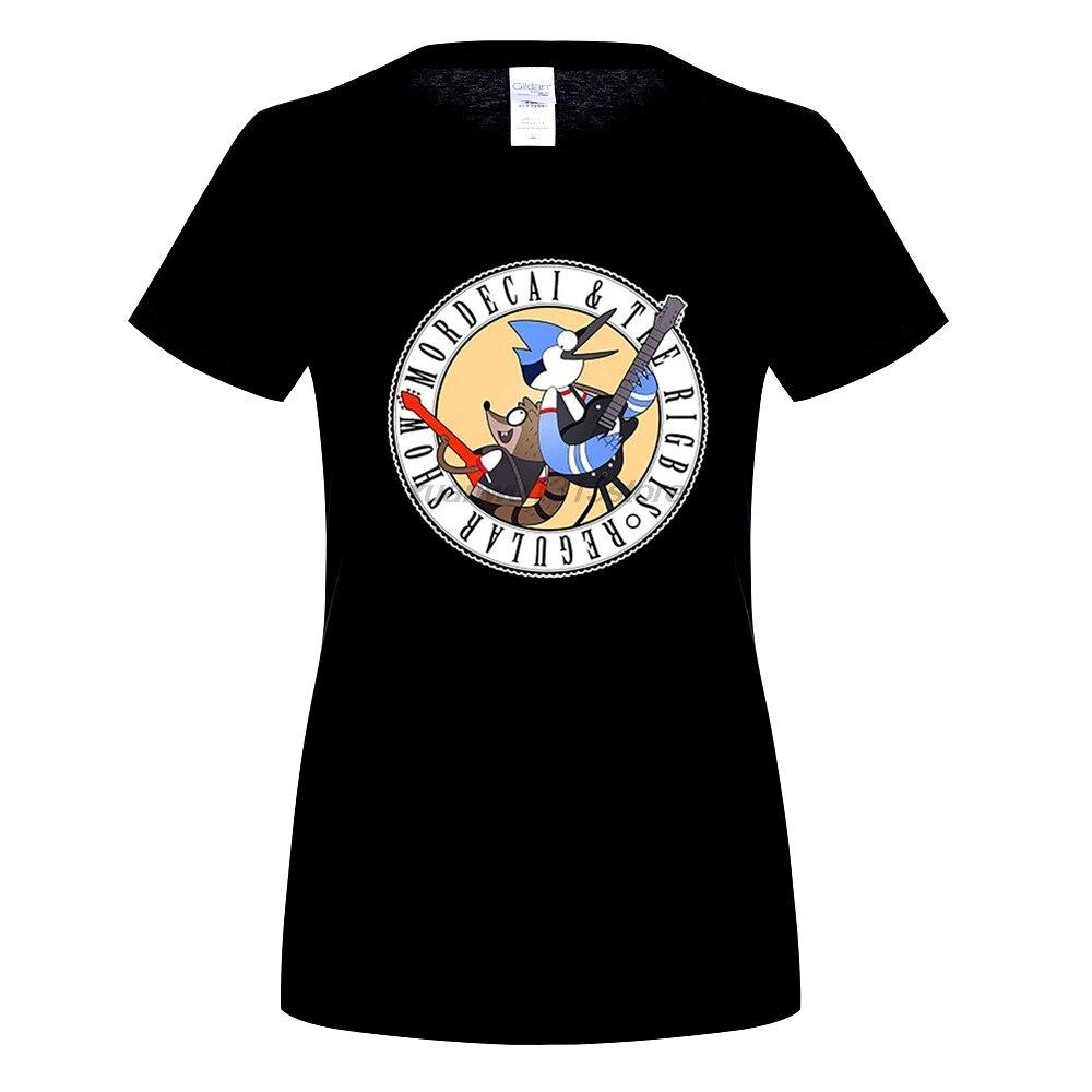 Возьмите Regular Show мардохей Ригби голубая сойка енот женщин и WoWomens Аниме футболки