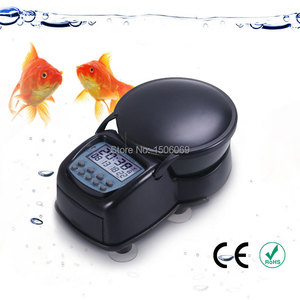 Automatic fish feeder with LCD display Pet Dry Food Portion Control Food Dispenser Large Volume Digital Timer Safe Material