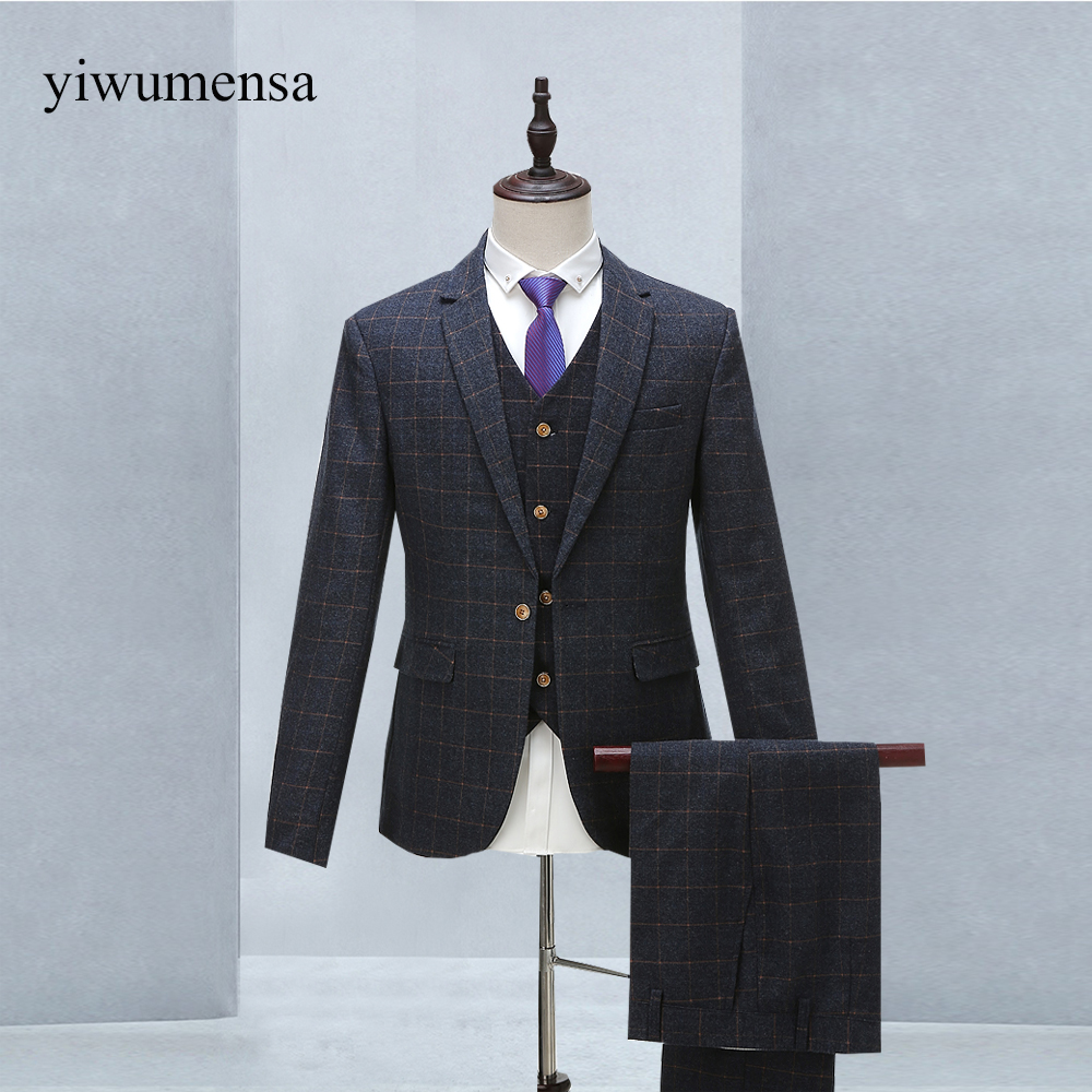 yiwumensa New England Style 2018 Two Pieces(jacket+pants) Mens ...