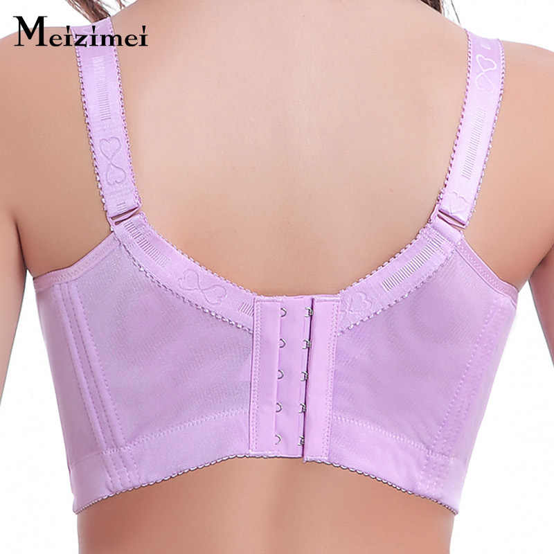 Meizimei Lace Bralette Push Up Bra Plus Size Bras For Women Tops Floral Full Coverage Pink bra Sexy Lingerie Breathable Big Bra