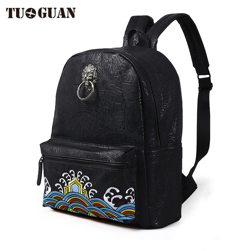 China Famous Brand Vintage Men/Women Backpack School Bags Embroidery Waterproof Laptop Back Pack Student Bagpack for Teenager men backpack student school bag for teenager boys large capacity trip backpacks laptop backpack for 15 inches mochila masculina