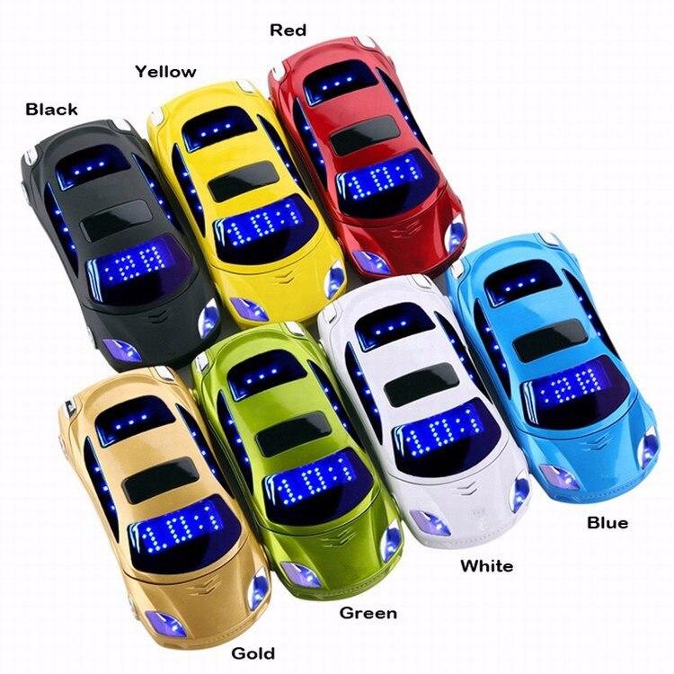 NEW Unlocked Flip Mini Sport Car Model Cell Phone Gold F15 Children Mobile Phone Russian French