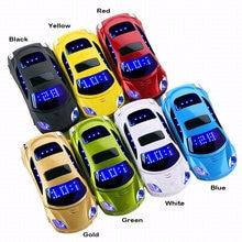 Новый разблокирована флип мини спортивный автомобиль модель сотовый телефон Золото F15 детей мобильный телефон Русский Пособия по французскому языку H-mobile F15