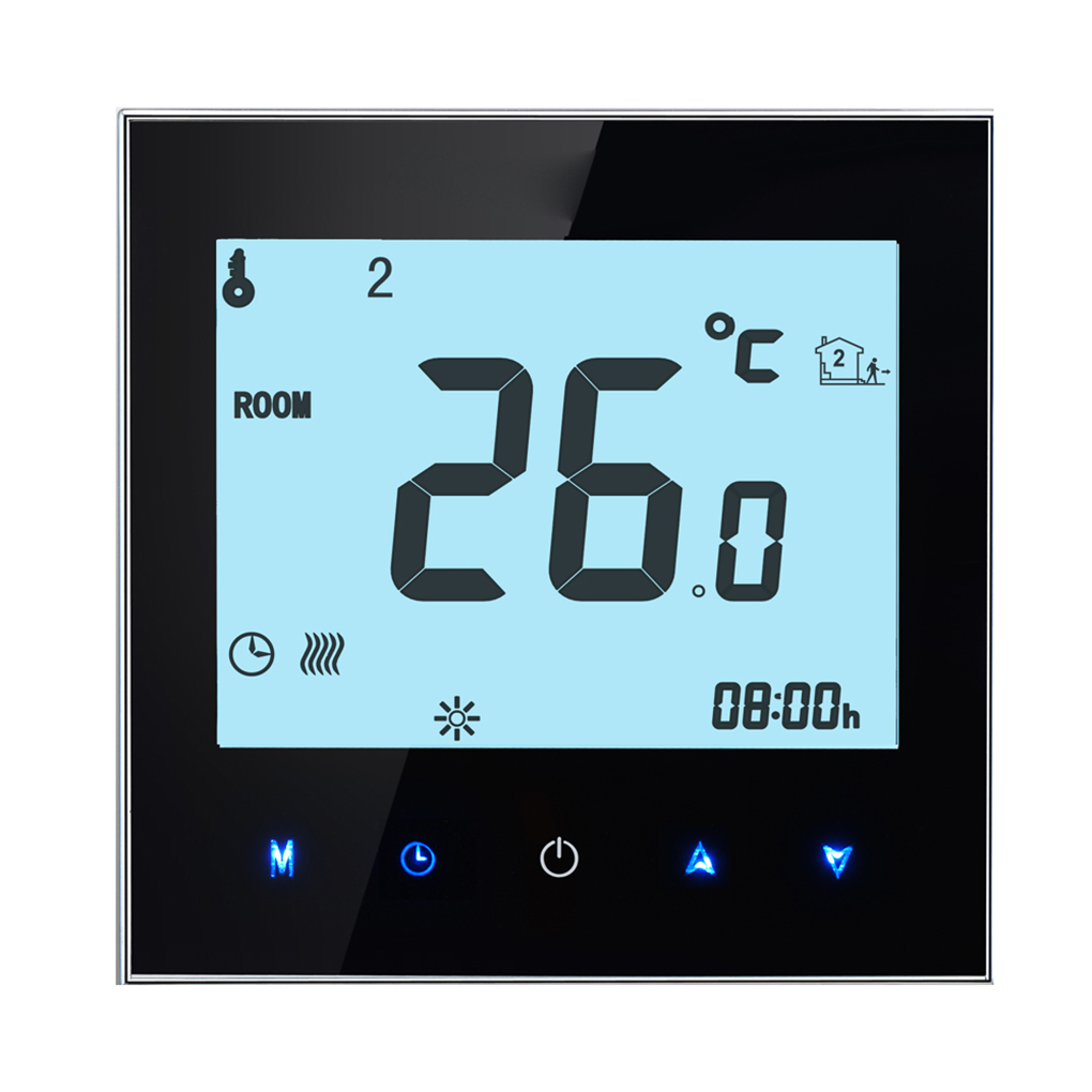 Programmable LCD Display Touch Screen Thermostat NTC Sensor Room Temperature Controller for Modbus Communication dc 24v touchscreen programmable modbus boiler thermostat for on