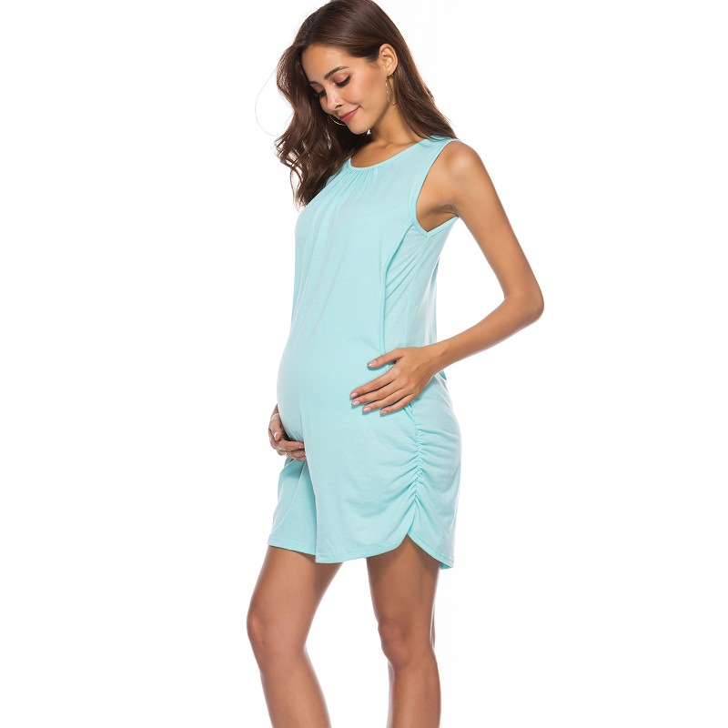 Maternity Clothes Solid Color Dress Breastfeeding Dress Perfect for Any Occasion Seamless Tank Dress