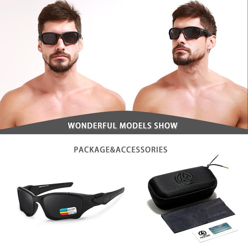 KDEAM Outdoor Sports Polarized Sunglasses Men Curve Cutting Frame Stress-Resistant Lens Shield Sun Glasses Women KD0623 5