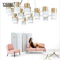 Scandinavian Modern Neoclassical Metal Aluminum Honeycomb Template Designer Chandelier Lamp Living Room Bedroom Hotel