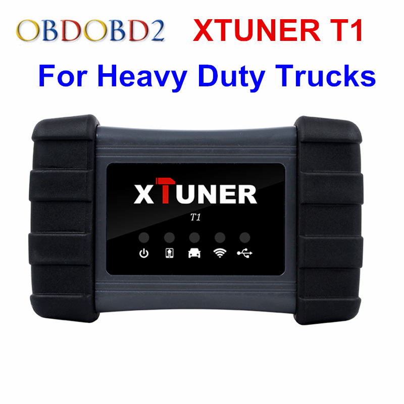 100% Original XTUNER T1 Professional Work Heavy Duty Truck Auto OBD2 Diagnostic Tool Support WIFI and USB XTUNER T1 OBD2 Scanner