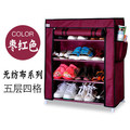 FREE Shipping 4 Tier  Non-woven Single row Shoe Cabinets shelves simple living room home decorations debris storage
