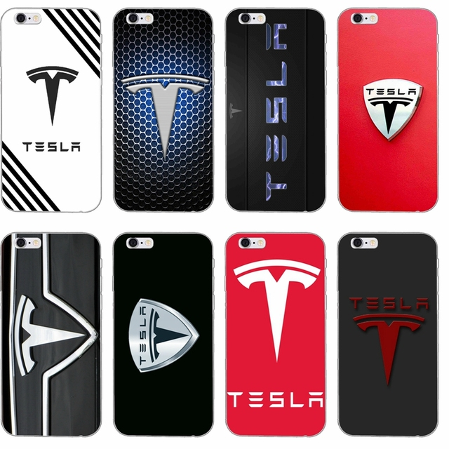 new arrival 30214 7ee1f US $1.99 |luxury car Tesla Logo slim Soft phone case For iPhone 4 4s 5 5s  5c SE 6 6s plus 7 7plus 8 8plus X-in Half-wrapped Case from Cellphones & ...
