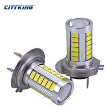1 x H7 светодиодный высокое Мощность светильник для h4 h7 светодиодный 33SMD 5730 5630 туман светильник противотуманный фонарь светодиодный головной светильник дальнего света светодиодный автомобильный светильник авто лампа