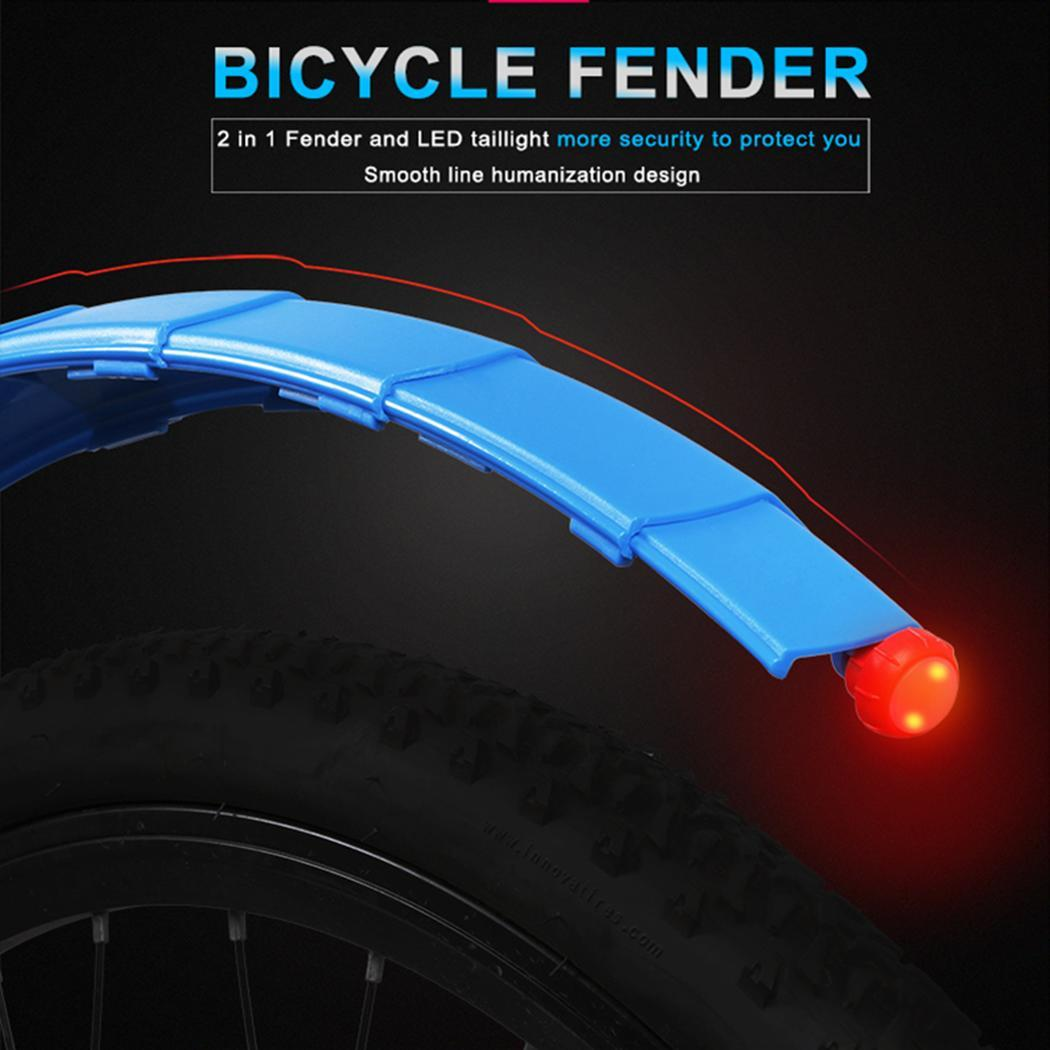 Outdoor Cycling Telescopic Mountain Bike Fender Ultra-lightweight fender, easy to use. With Taillight Bicycle