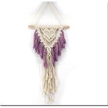 Вязаный богемский настенный гобелен ручной работы из хлопка с кисточками гобелены Гостиная свадебное оформление для церемоний настенное искусство
