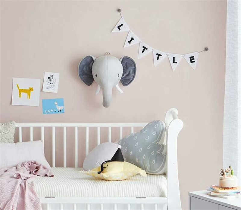 Tête d'animal éléphant cerf renard cygne Lion tête de tigre pour bébé chambre décor bébé enfants chambre tentures décoration murale cadeaux