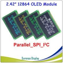 """Prawdziwy wyświetlacz OLED, 2.42 """"128*64 12864 graficzny moduł lcd ekran LCM ekran SSD1309 kontroler obsługuje równoległe, SPI, I2C/IIC"""