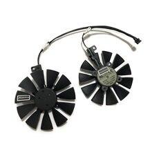 2 pçs/set 87mm T129215SU EX-RX 570 GTX 1070/1060 DUAL GPU Cooler Fan Para ASUS AREZ-EX-RX570-8G/4G Vídeo Placa Gráfica Arrefecimento