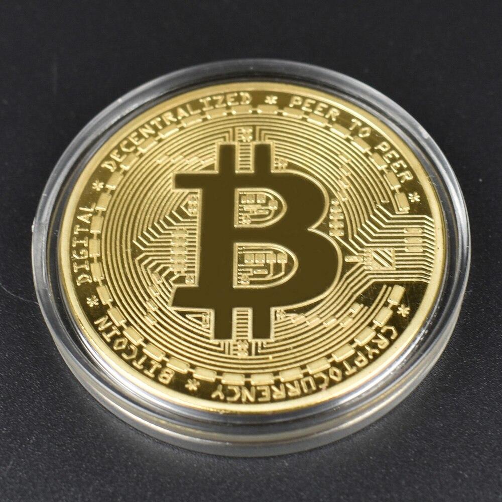 Hot 50pcs/Lot Bitcoin coin BTC Bit Metal Coin For Souvenir-2