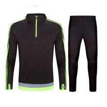 2016 17 Kids Sport Running Survetement Football Set Long Jacket Suit Soccer Training Skinny Leg Pants Tracksuits Kits Sportswear