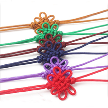 DIY Chinese Knot Pendant Tassel Fringe Nylon Thread Decorative 100pcs Friend New Year Gifts Mini Tassels Craft Gold