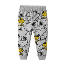Boys Trousers Cartoon Animals Baby Straight Pants for Spring Autumn Children Kids Full Length Sweaterpants