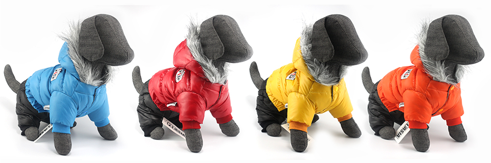 2017 NEW Design Winter Dog Clothes Winter Waterproof Pet Dog Coat Jacket Fashion Jumpsuit for Chihuahua Small Large Dogs PETASIA 300