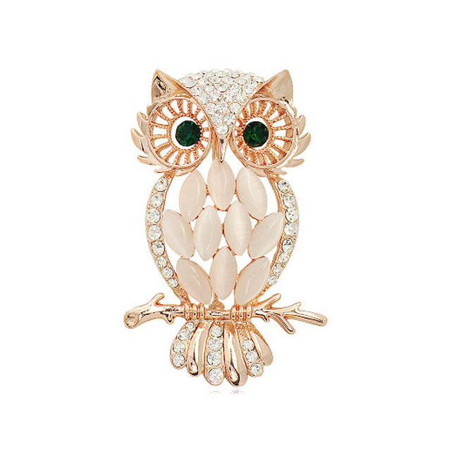 e6c4af5c8d6 DUOVIN Fashion Cute Owl Brooch For Women Fashion Jewelry Pins For Women  Clothes Party Prom Gift For Female Clothing Accessories