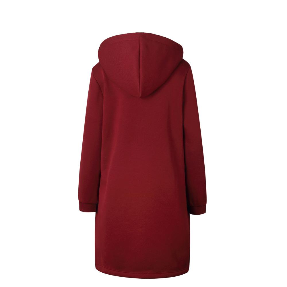 Women Warm Winter Fleece Hooded Parka Coat Overcoat Long Jacket Outwear Zipper outwear Female Hoodies S-5XL plus size sweatshirt 7