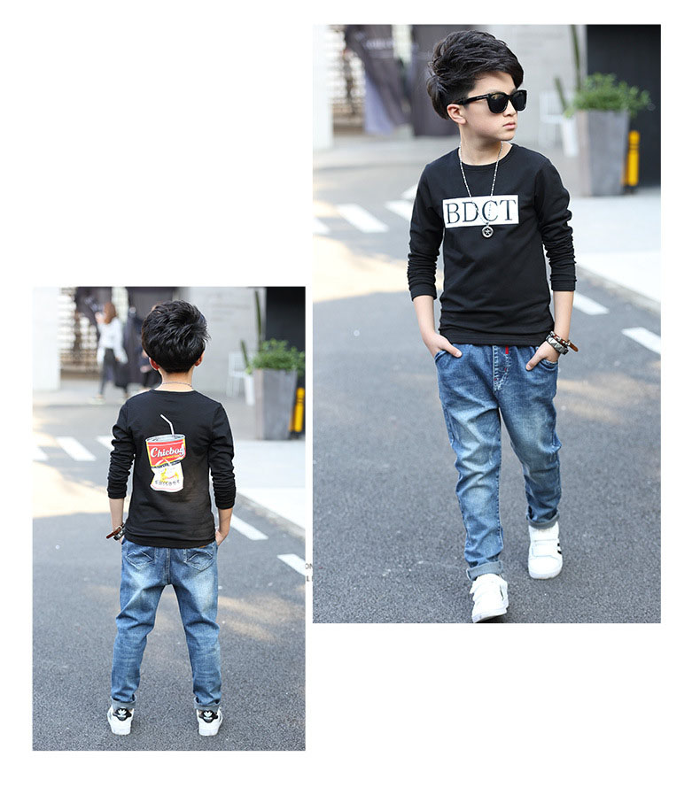fashion casual pink green black striped o-neck t shirt for boys long sleeve t shirt kids boy tee tops clothes new 2017 spring autumn teenage boys clothing 6 7 8 9 10 11 12 13 14 15 16 years old little teenage big boys t shirt long sleev -