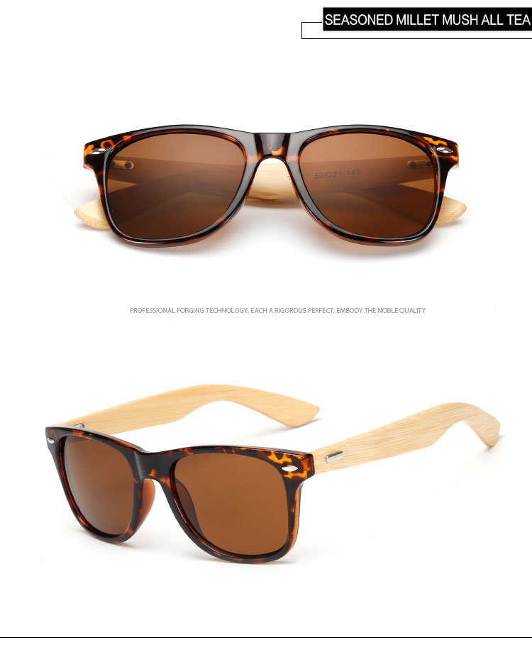 17 Cores óculos de sol de bambu Polarizada Óculos Mulheres UV400 ... 8d3d11bb01