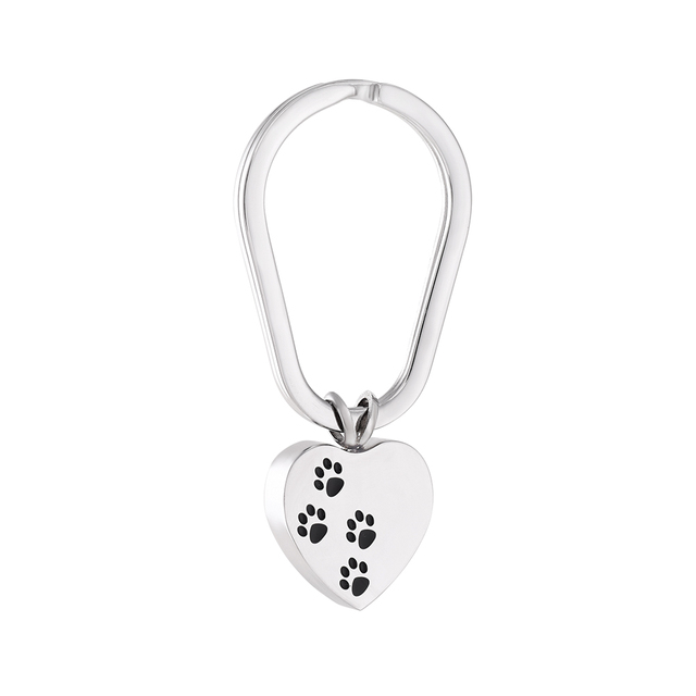 Heart with Paws Keychain