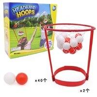 YARD 2pcs Basketball Head Hoop+40pcs Balls Game Shooting Ball Sport Adjustable Head Hoop Toys Develop Child Parent Relationship