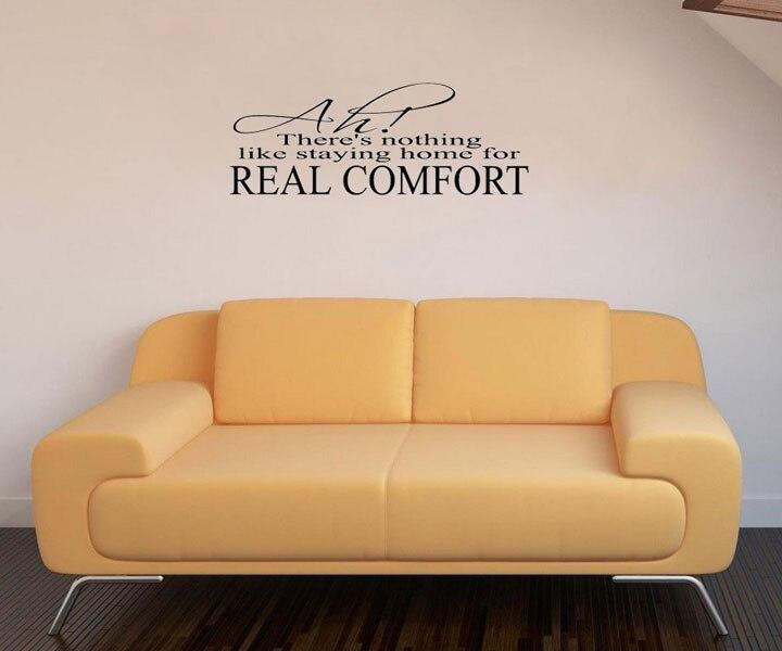New Arrival Real Comfort DIY Waterproof Vinyl Quote ART Wall Sticker ...