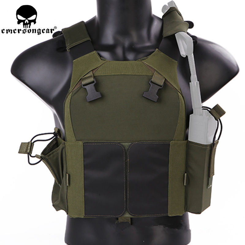 Emersongear LVMBAV PC Military Molle Waistcoat Combat Assault Plate Carrier Vest Hunting Protection Vest Camouflage emersongear lbt6094 style slick medium plate carrier molle protective vest hunting armor military combat vest atfg em2982
