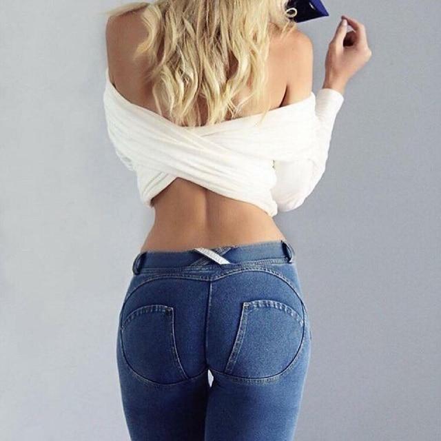 Peach Jeans Lift Hips Skinny Casual Denim 2