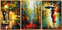 Beautiful Scenery Triptych Mosaic Diy Diamond Painting Square Diamonds Full Diamond Embroidery Adornment Picture Diamond Mosaic