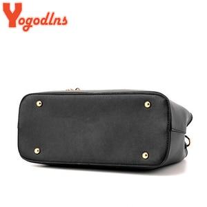 Image 5 - Yogodlns Classic Pure Color Women PU Leather Tote Tassel Bags Female Top handle Handbag Fashion Crossbody Shoulder Bag for Lady