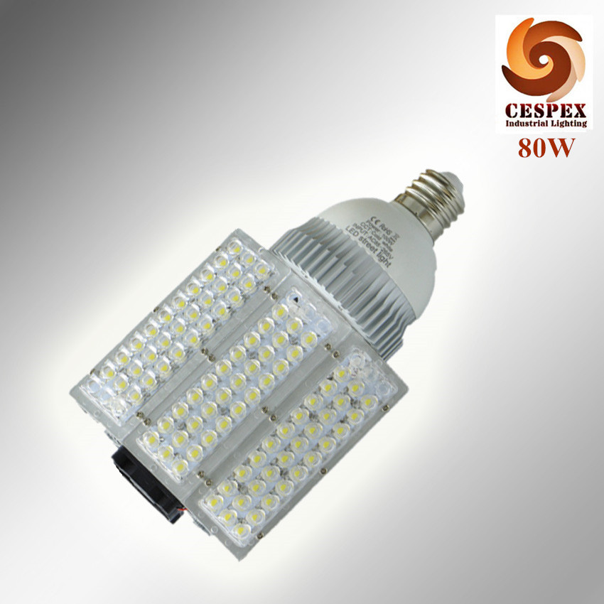 2pcs/lot Aluminum alloy body 110lm/w AC110V 220V 240V E39 80W LED street light bulb replace 250W high pressure sodium lamp 2pcs lot alloy aluminum front