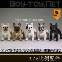 Mr Z Animal Statue 1 6 French Bulldog White Khaki Black 5 Color Model Toys Hobbies