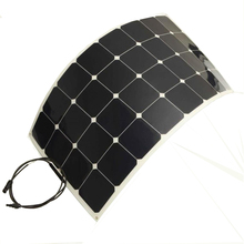Solarparts 1pcs 100W 12V PV flexible solar panel cell panel module fishing boat battery charger pump