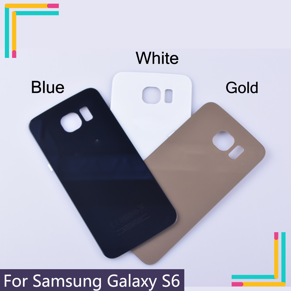 High quality new For <font><b>Samsung</b></font> <font><b>Galaxy</b></font> <font><b>S6</b></font> S6edge Back <font><b>Glass</b></font> Battery Cover Housing case <font><b>Replacement</b></font> For <font><b>samsung</b></font> <font><b>Galaxy</b></font> G920F G925F image