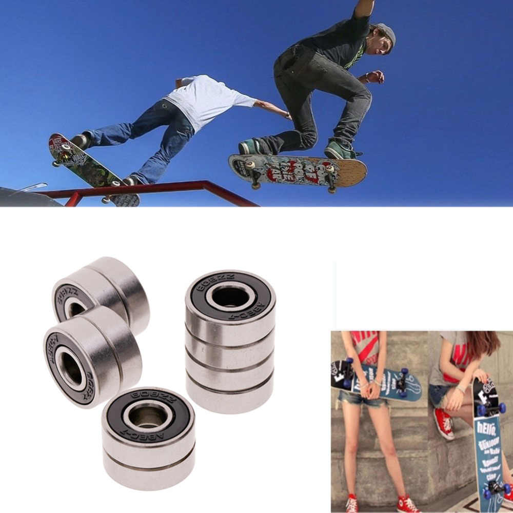 1Pcs Roller Skate Skateboard Ball Wiellager ABEC-7/9 608 RS 2RSe Skateboard Lager Accessoires