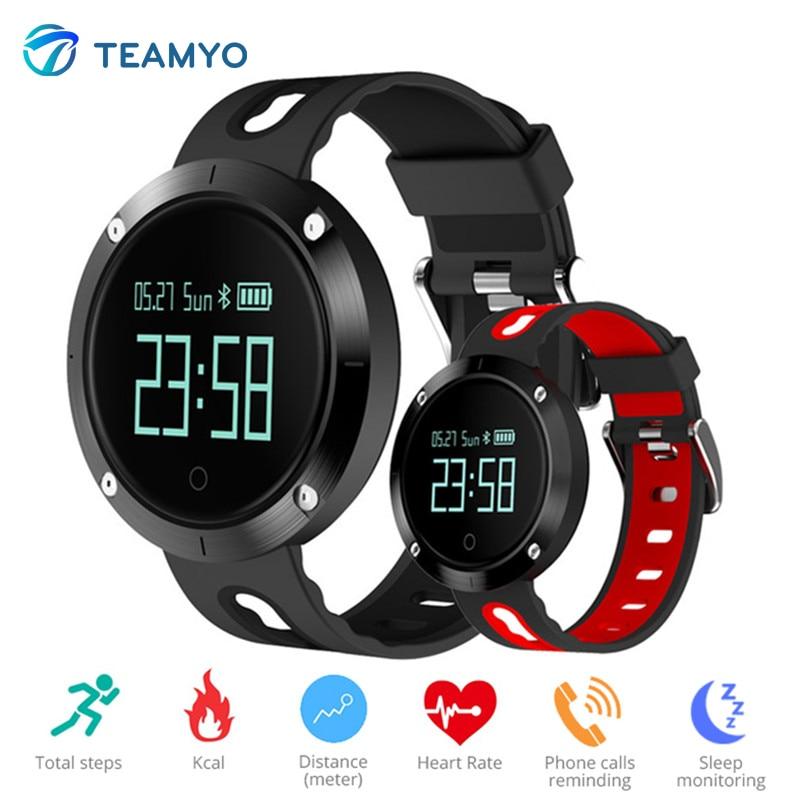 Teamyo DM58 Smart Band Bloeddruk Horloge Fitness Tracker Hartslag Smart Armband Relogio Cardiaco Voor IPhone Android Telefoon