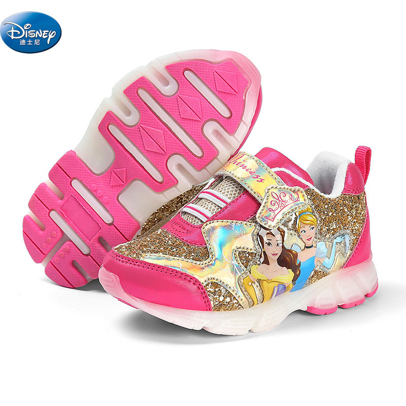 girls frozen elsa Anna snow White princess soft Breathable Sneaker with led light  student Casual Shoes Europe size 27-33girls frozen elsa Anna snow White princess soft Breathable Sneaker with led light  student Casual Shoes Europe size 27-33
